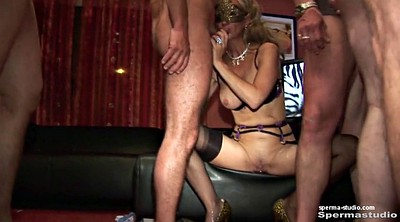 German, Mouth sex, Hardcore gangbang, German milf creampie