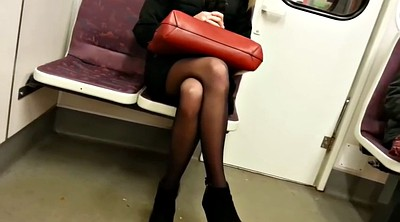 Black girl, Black pantyhose