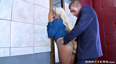 Boss, Bridgette b, Blond big tits, Elevator