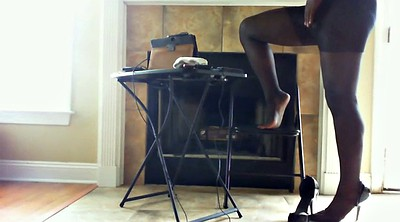 Blacked, Pantyhose foot, Pantyhose feet, Ebony pantyhose