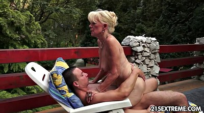 Outdoor, Old mature, Old granny, Grannies