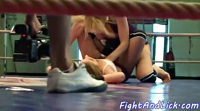 Lesbian wrestling, Fighting, Cat