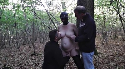 Wife outdoor, Slut wife, Mature gangbang, Forest