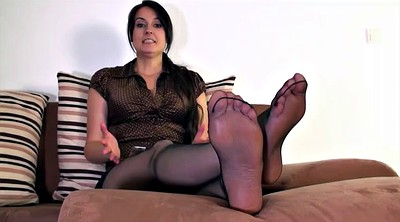 Foot nylon, Step, Nylon feet, Step mother, Polish