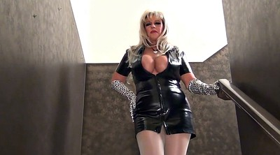 Latex, Gloves, Glove, Milf boots, Boots fetish