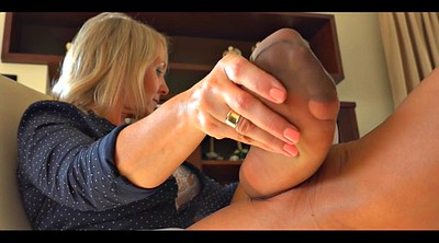 Nylon foot, Milf tease