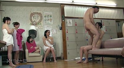 Japanese granny, Japanese old, Asian granny, Sauna, Creampie granny, Uncensored