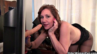 Granny masturbation, Office granny, Office mature, Mature office