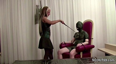 Latex, Hot, Older man, Latex femdom, Man old