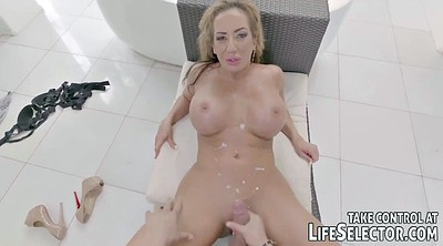 Teen footjob, Big wife, Big tits milf