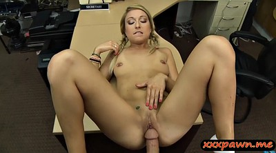 Blonde pussy, Very hard, Very big cock