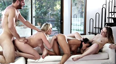 Adriana chechik, Hairy ass, Remy, Lucky man, Hairy blonde, Foursome anal