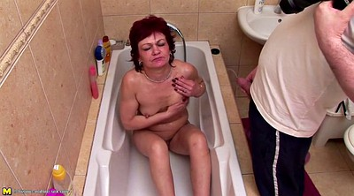 Mom and, Granny pussy, Mom shower, Mature pussy, Hairy granny pussy