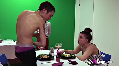 Chubby, Nice, Threesome hd, Order, Dinner party