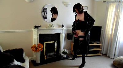 Pegging, Pvc, Thigh, Shemale boots, Coat