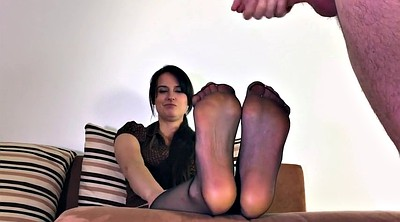 Mother, Nylon feet, Polish, Nylon cum, Cum on foot