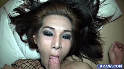 Asian shemale, Shemale creampie, Asian pov