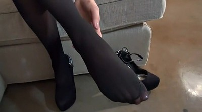 Nylon footjob, Nylon feet, Beautiful feet