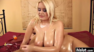 Oil, Massag, Oil massage, Pamela, Oiled tits