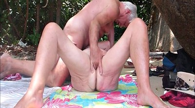 Mature beach, Creampie wife