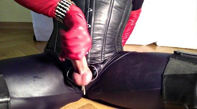Crossdresser, Shemale cum, Glove, Gloves, Gay leather, Shemale hd