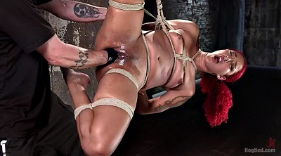 Peeing, Fisted, Squirting bondage, Hanging, Dildo squirt, Fist squirt