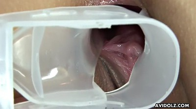 Gyno, Japanese squirt, Speculum, Close pussy, Lick squirt, Japanese squirting