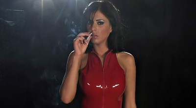 Smoking, Mistress, Femdom latex, Domination