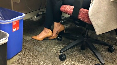 Feet, Hidden cam, Office hidden