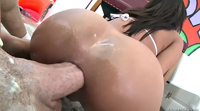 Oiled, Ass licking