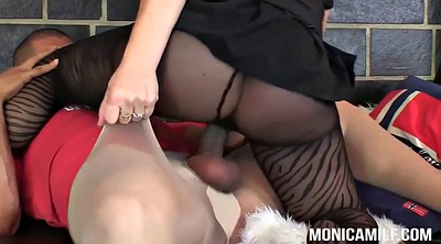 Fishnet, Nylon granny, Double granny