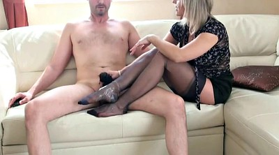 Foot job, Stocking foot, Stockings milf, Stockings job, Feet job
