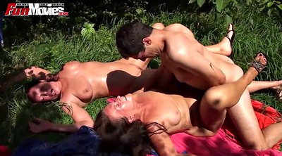 German granny, Tee, Old woman, Mature woman, Mature outdoor, Old movies