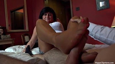 Foot, Footjob, Taboo, Friend mom, Cfnm, Friends mom