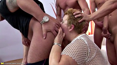 Mature gangbang, Group