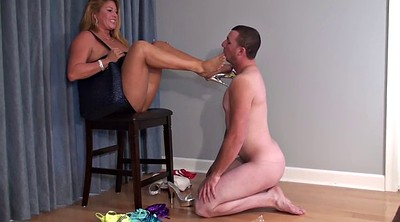 Foot, Chubby mature, Chubby blonde, On her knees, Mature feet, Cuckold feet