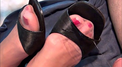 Feet, Nylon feet, Nylon foot, Nylon cum, Stocking feet