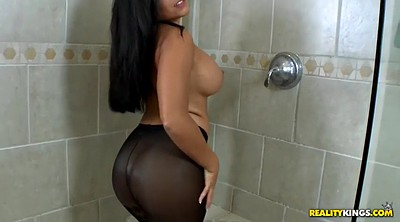Shower, Big tits solo, Curve solo, Chubby solo