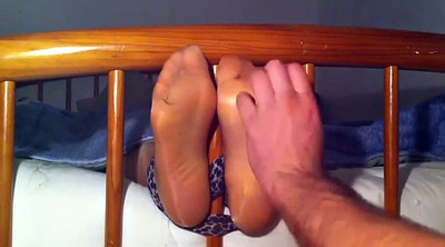 Nylon, Tickle, Tickling, Nylon feet, Foot nylon