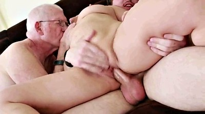 Grannies, Milf fuck, Young threesome