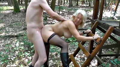 Stocking, German mature, Milf stockings, Forest
