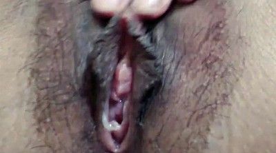 Close up pussy, Hairy creampie
