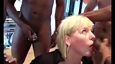 Mature group, Swedish, Mature gangbang, Shorts, Short haired mature, Mature group sex