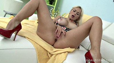 Double penetration, Anal sex, Blonde gangbang