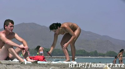 Couple, Beach voyeur, Public couple, Nudists, Nude, Caught public