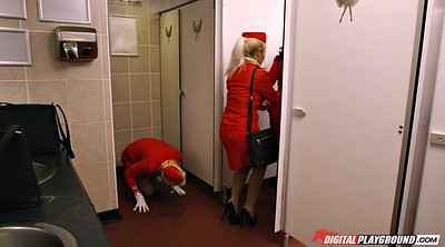 Gloves, Ebony, Stewardess, Clothed, Big cocks