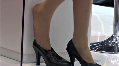 Pantyhose, Nylon foot, Pantyhose foot, Candid foot, Shoeplay, Pantyhose feet fetish