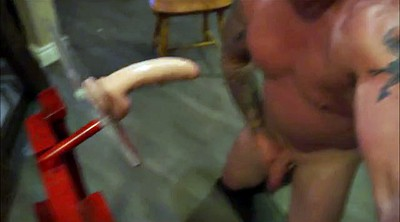 Muscle daddy, Huge dildo