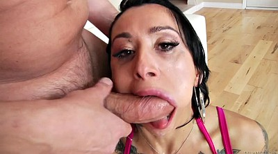 Deepthroat, Spit, Big as big tits