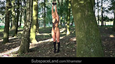 Outdoors bondage